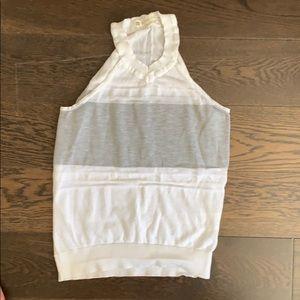 Blanc Noir sleeveless v neck top
